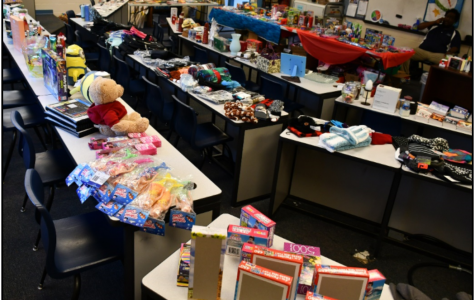 More than 75 people received more than 400 gifts from the Jingle Bell Shop Dec. 18-19 in room 153.