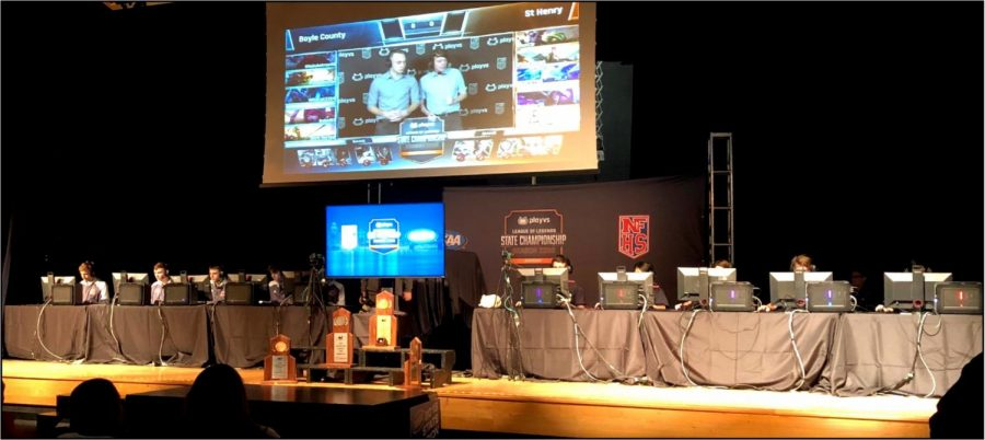 Kentucky was one of five states to pilot an esports state tournament this year when the KHSAA and California-based PlayVS teamed to host the championship on Jan. 28. In the final pictured above, Boyle County defeated St. Henry 2-0.