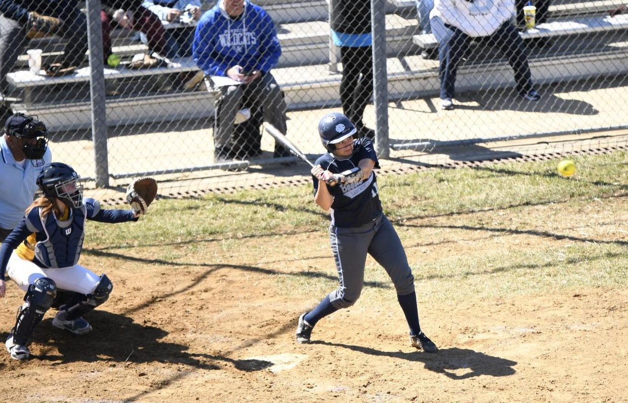 Senior Nikki Bridgers bats during Boone County's game against Grant County on Saturday, March 23. The Rebels won the game 10-4.