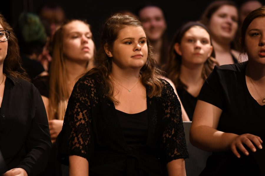 Senior+Macy+Woods+waits+to+sing+at+the+annual+pops+concert.