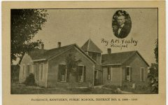 A post card depicts the public school building that served Florence until the early 1930s.