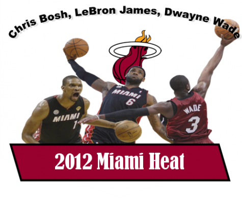"Following yet another disappointing year with the Cleveland Cavaliers in the 2009-2010 season, LeBron James entered free agency, deciding to ""take his talents to South Beach"" and join Dwayne Wade and Chris Bosh to form a new big three in Miami. The trio's first NBA title came just two seasons later in 2012 when they beat the Oklahoma City Thunder 4-1 in the finals. LeBron won MVP, and all three teammates made the All-Star game."