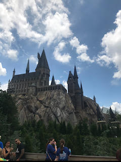 "Hogwarts School of Witchcraft and Wizardry houses the ride ""Harry Potter and the Forbidden Journey"" at Universal Studios in Orlando."