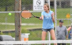 Senior Brooke Warning plays a volley during Boone County's 5-0 win over Scott High School on May 7 in Taylor Mill.